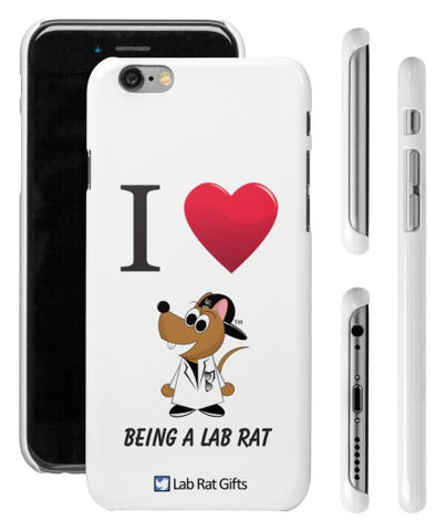"""I ♥ Being A Lab Rat"" - iPhone 6/6s Case  - LabRatGifts - 1"