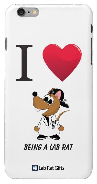 """I ♥ Being A Lab Rat"" - iPhone 6/6s Plus Case Default Title - LabRatGifts - 2"