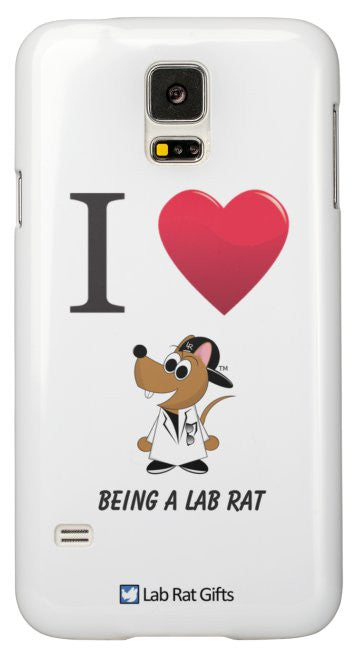 """I ♥ Being A Lab Rat"" - Samsung Galaxy S5 Case Default Title - LabRatGifts - 2"