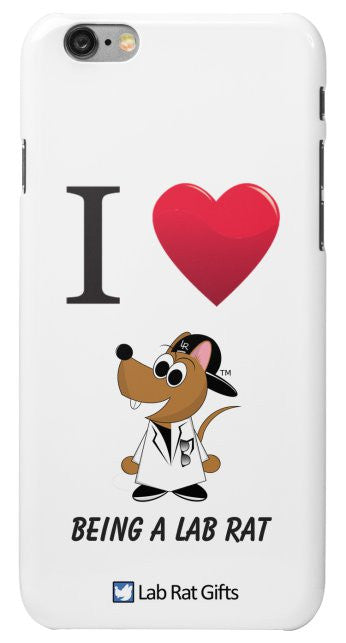 """I ♥ Being A Lab Rat"" - iPhone 6/6s Case Default Title - LabRatGifts - 2"