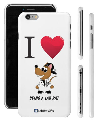 """I ♥ Being A Lab Rat"" - iPhone 6/6s Plus Case  - LabRatGifts - 1"