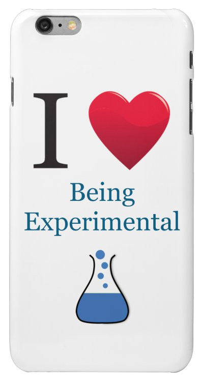 """I ♥ Being Experimental"" - iPhone 6/6s Plus Case Default Title - LabRatGifts - 2"