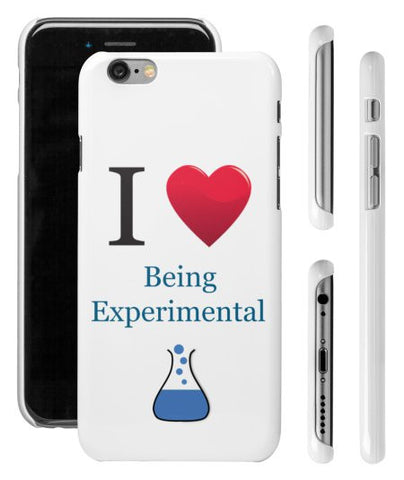 """I ♥ Being Experimental"" - iPhone 6/6s Case  - LabRatGifts - 1"