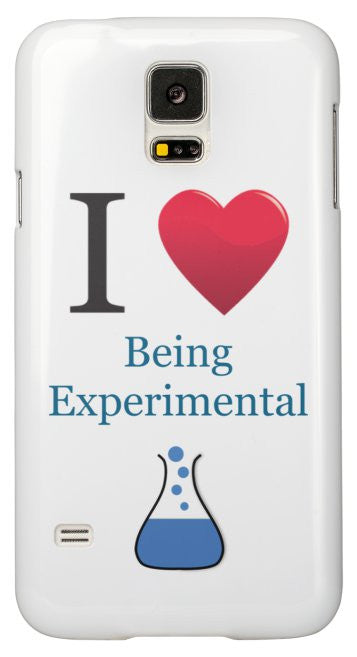 """I ♥ Being Experimental"" - Samsung Galaxy S5 Case Default Title - LabRatGifts - 2"