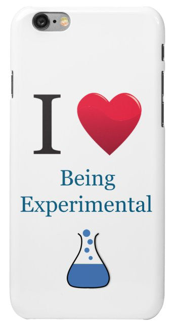 """I ♥ Being Experimental"" - iPhone 6/6s Case Default Title - LabRatGifts - 2"