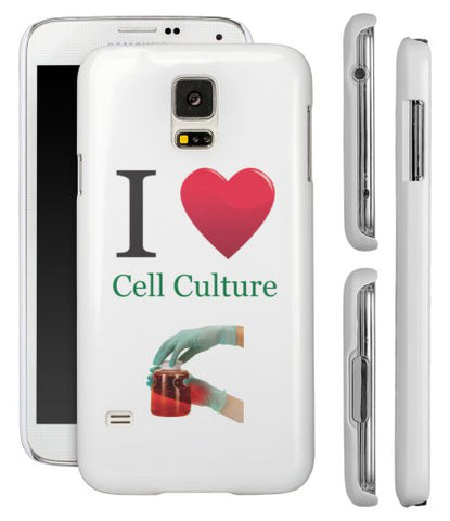 """I ♥ Cell Culture"" - Samsung Galaxy S5 Case  - LabRatGifts - 1"