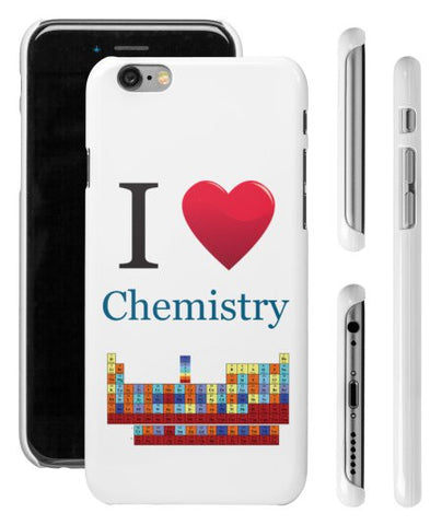 """I ♥ Chemistry"" - iPhone 6/6s Case  - LabRatGifts - 1"