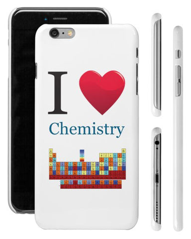 """I ♥ Chemistry"" - iPhone 6/6s Plus Case  - LabRatGifts - 1"
