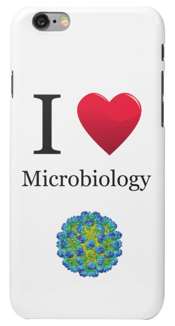 """I ♥ Microbiology"" - iPhone 6/6s Case Default Title - LabRatGifts - 2"