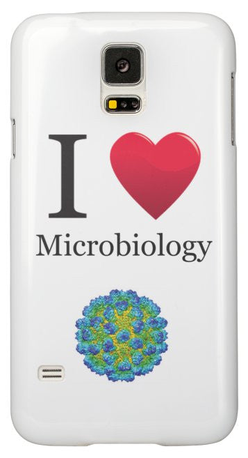 """I ♥ Microbiology"" - Samsung Galaxy S5 Case Default Title - LabRatGifts - 2"