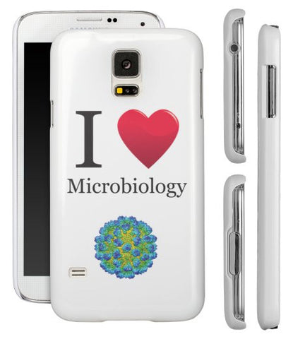 """I ♥ Microbiology"" - Samsung Galaxy S5 Case  - LabRatGifts - 1"