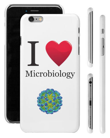 """I ♥ Microbiology"" - iPhone 6/6s Plus Case  - LabRatGifts - 1"