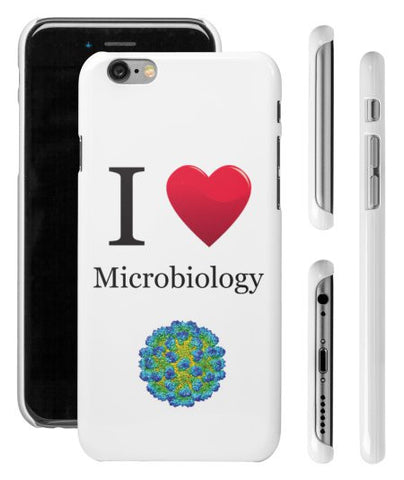 """I ♥ Microbiology"" - iPhone 6/6s Case  - LabRatGifts - 1"