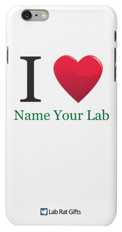 """I ♥ (Name Your Lab)"" - Custom iPhone 6/6s Plus Case Default Title - LabRatGifts - 2"