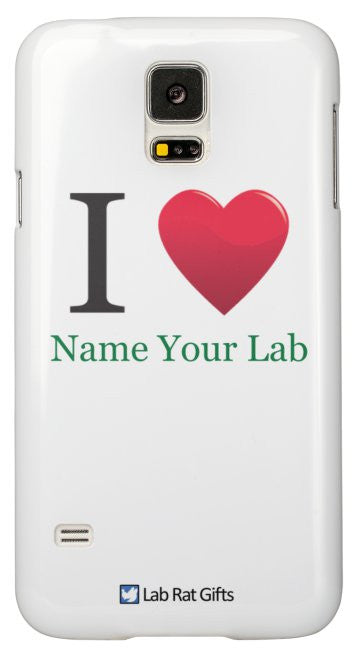 """I ♥ (Name Your Lab)"" - Custom Samsung Galaxy S5 Case Default Title - LabRatGifts - 2"
