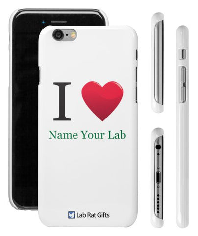 """I ♥ (Name Your Lab)"" - Custom iPhone 6/6s Case  - LabRatGifts - 1"
