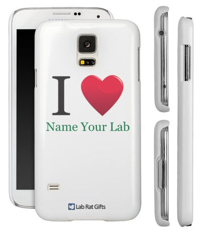 """I ♥ (Name Your Lab)"" - Custom Samsung Galaxy S5 Case  - LabRatGifts - 1"