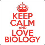 """Keep Calm and Love Biology"" (red) - Men's T-Shirt  - LabRatGifts - 14"