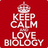 """Keep Calm and Love Biology"" (white) - Men's T-Shirt  - LabRatGifts - 12"