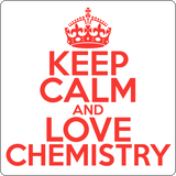 """Keep Calm and Love Chemistry"" (red) - Men's T-Shirt  - LabRatGifts - 14"