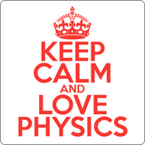 """Keep Calm and Love Physics"" (red) - Men's T-Shirt  - LabRatGifts - 14"