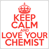 """Keep Calm and Love Your Chemist"" (red) - Men's T-Shirt  - LabRatGifts - 14"