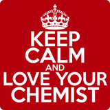 """Keep Calm and Love Your Chemist"" (white) - Men's T-Shirt  - LabRatGifts - 12"