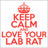 """Keep Calm and Love Your Lab Rat"" (red) - Men's T-Shirt  - LabRatGifts - 14"