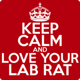 """Keep Calm and Love Your Lab Rat"" (white) - Men's T-Shirt  - LabRatGifts - 12"