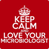"""Keep Calm and Love Your Microbiologist"" (white) - Men's T-Shirt  - LabRatGifts - 12"