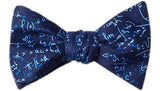 Math Equations Bow Tie Blue - LabRatGifts - 1