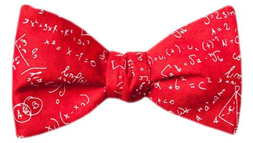 Math Equations Bow Tie Red - LabRatGifts - 3