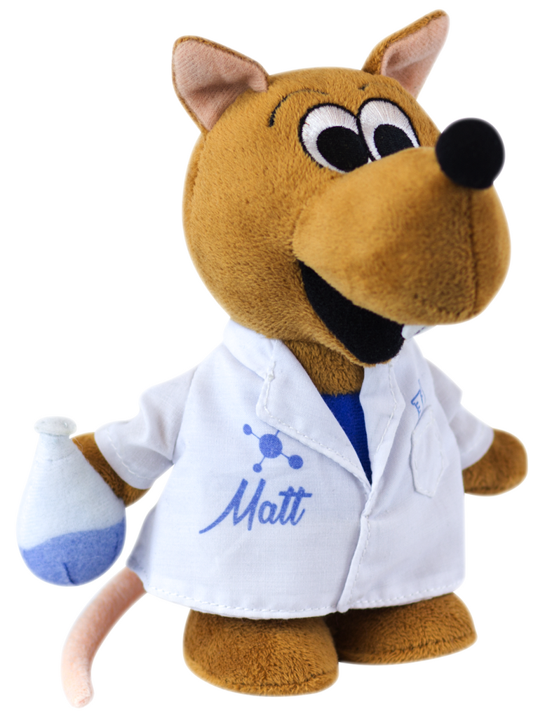 """Matt the Rat"" - Plush Toy  - LabRatGifts - 1"