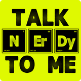"""Talk NErDy To Me"" (black) - Men's T-Shirt  - LabRatGifts - 16"