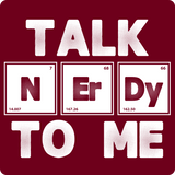 """Talk NErDy To Me"" (white) - Men's T-Shirt  - LabRatGifts - 16"