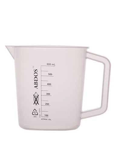 Abdos Printed Beakers with Handle, Polypropylene (PP) 500ml, 6/CS