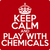 """Keep Calm and Play With Chemicals"" (white) - Men's T-Shirt  - LabRatGifts - 12"