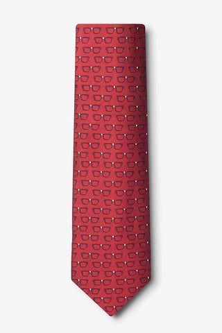 Four Eyes Tie Red / Regular - LabRatGifts - 1