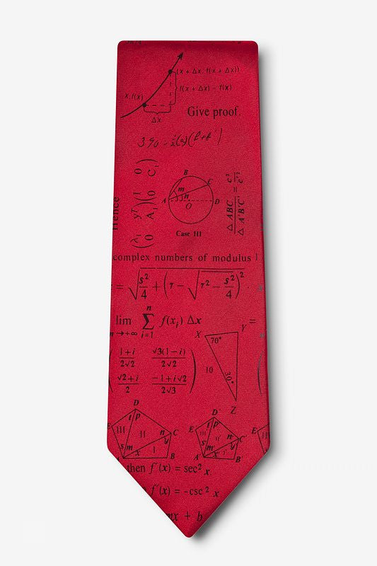 Mathematics Tie  - LabRatGifts - 1