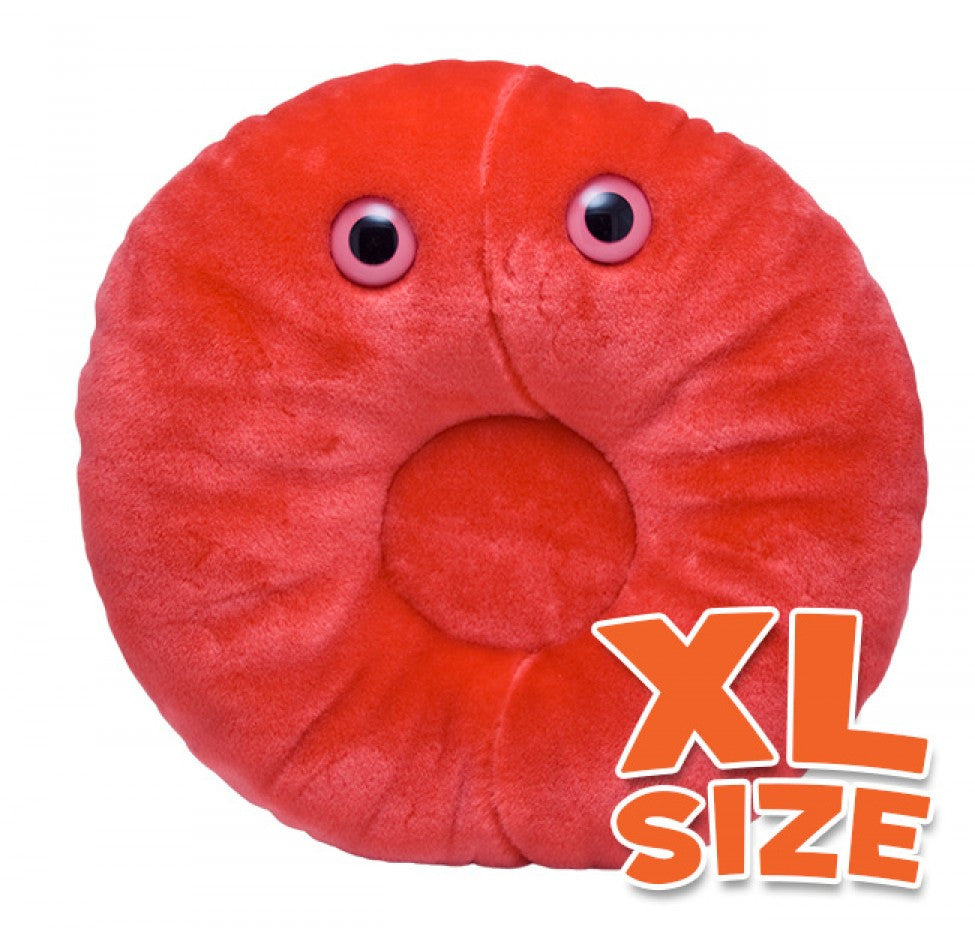 Red Blood Cell (Erythrocyte) XL Size - GIANTmicrobes® Plush Toy  - LabRatGifts - 1