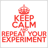 """Keep Calm and Repeat Your Experiment"" (red) - Men's T-Shirt  - LabRatGifts - 14"