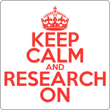 """Keep Calm and Research On"" (red) - Men's T-Shirt  - LabRatGifts - 11"