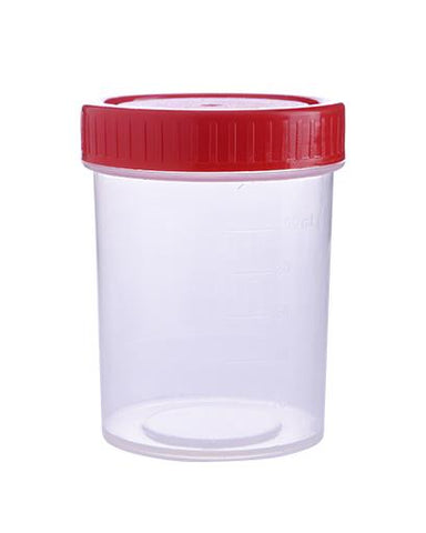 Abdos Sample Container, PP/PE, 120ml, Gamma Sterilized, Individually Wrapped, 200/CS