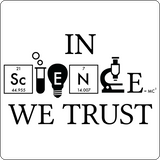 """In Science We Trust"" (black) - Men's T-Shirt  - LabRatGifts - 12"