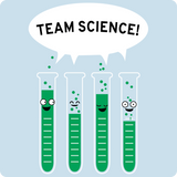 """Team Science"" - Men's T-Shirt  - LabRatGifts - 13"