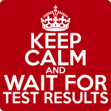 """Keep Calm and Wait for Test Results"" (white) - Men's T-Shirt  - LabRatGifts - 11"
