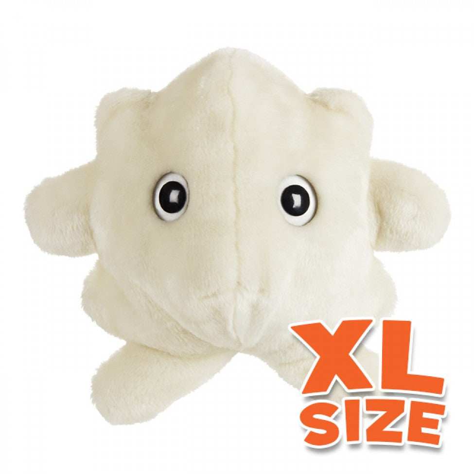 White Blood Cell (Leukocyte) XL Size - GIANTmicrobes® Plush Toy  - LabRatGifts - 1