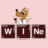 """Wine Periodic Table"" - Women's T-Shirt  - LabRatGifts - 14"