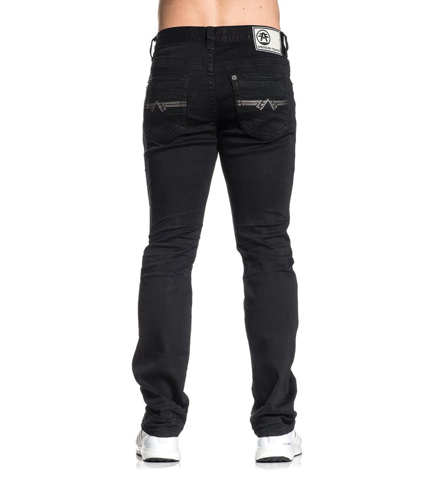 Legend Atone Black - Mens Denim Bottoms - American Fighter