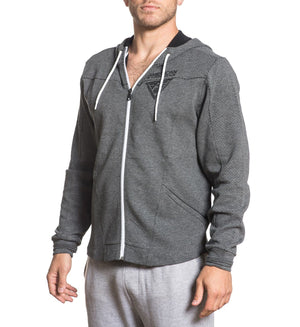 Balanced Line Zip Hood - Mens Hooded Sweatshirts - American Fighter